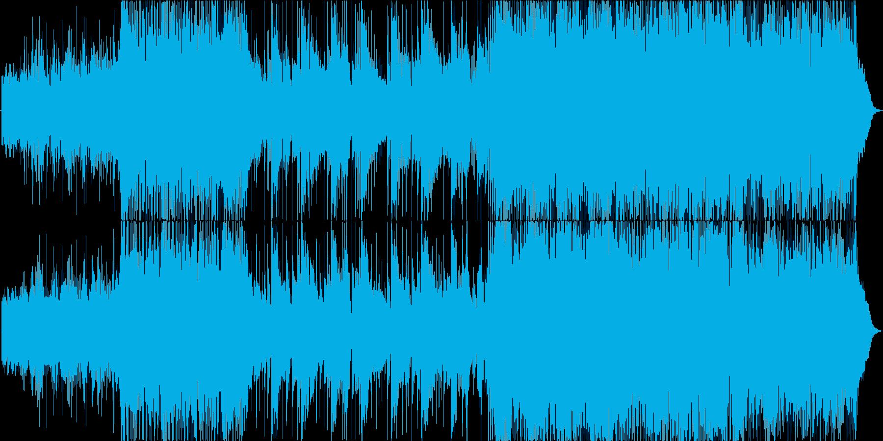 和風でエレクトロニカの躍動的な楽曲の再生済みの波形