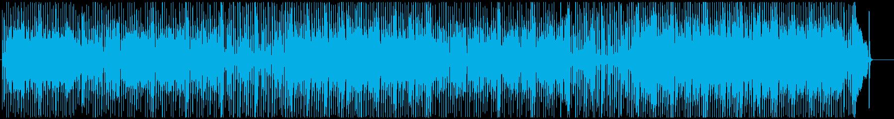 泥臭いギターのブルースロック調ポップスの再生済みの波形
