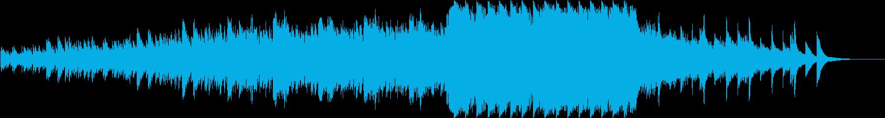 オーロラをイメージした幻想的なピアノ曲の再生済みの波形