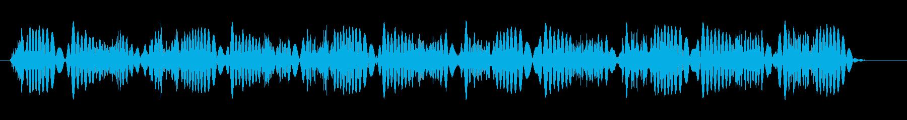 弾むサンパーの再生済みの波形