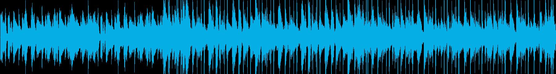 ドラム+ピアノのジャズ風BGMの再生済みの波形
