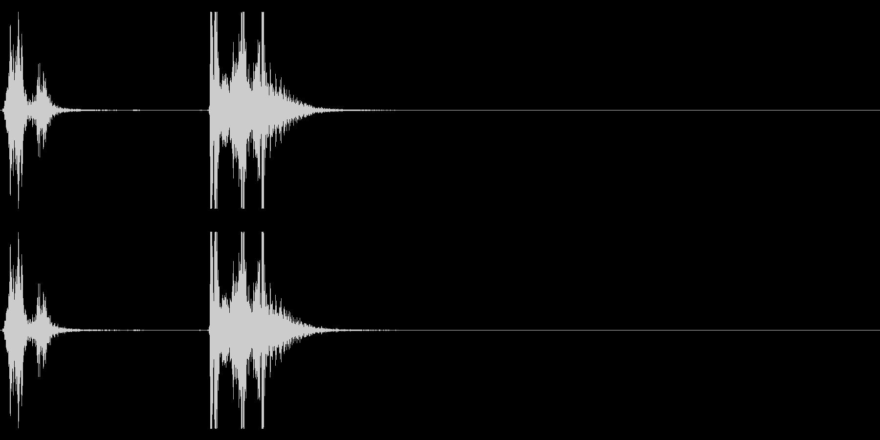 【生録音】タッパー・弁当箱を開ける音 2の未再生の波形