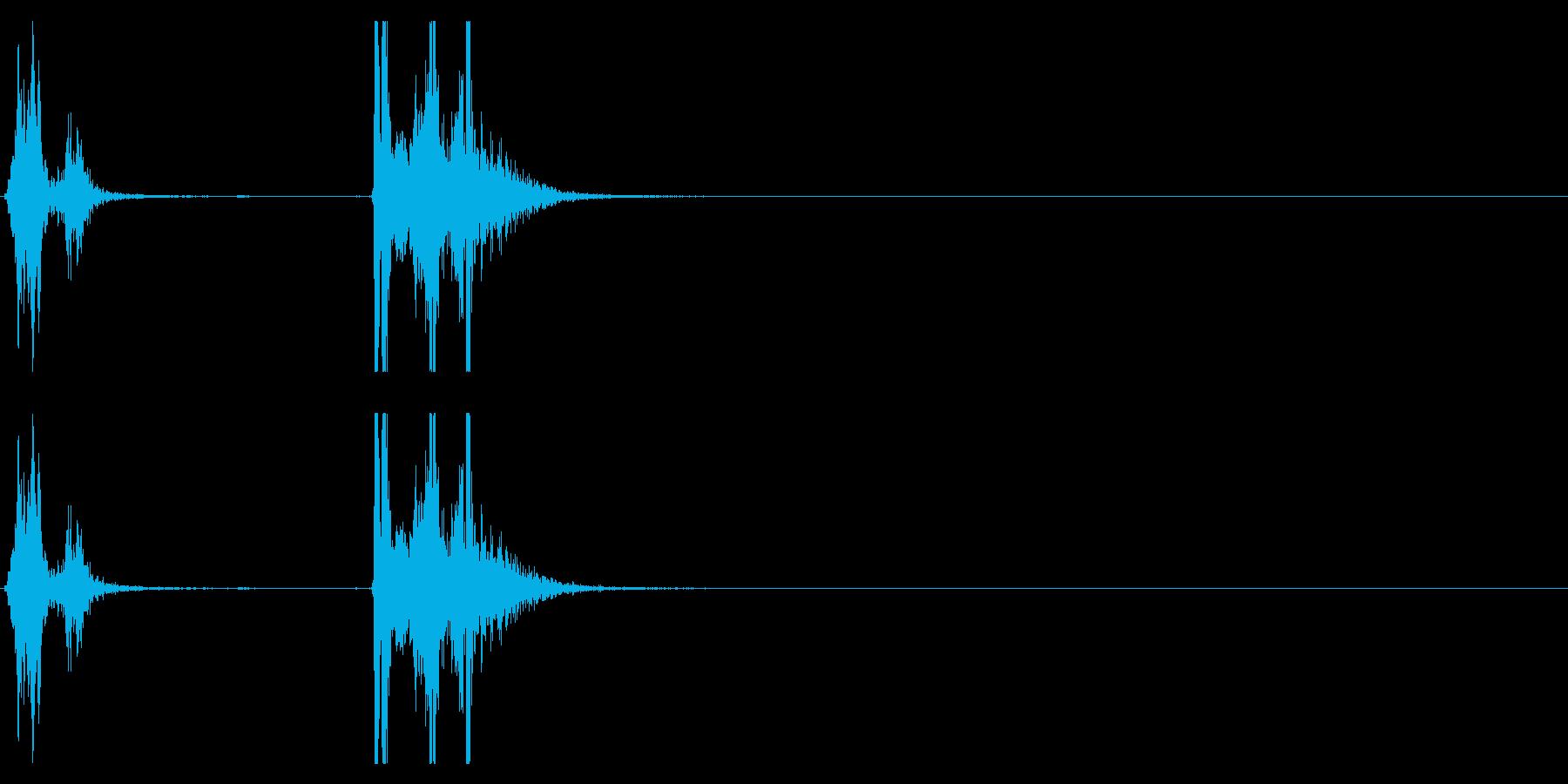 【生録音】タッパー・弁当箱を開ける音 2の再生済みの波形