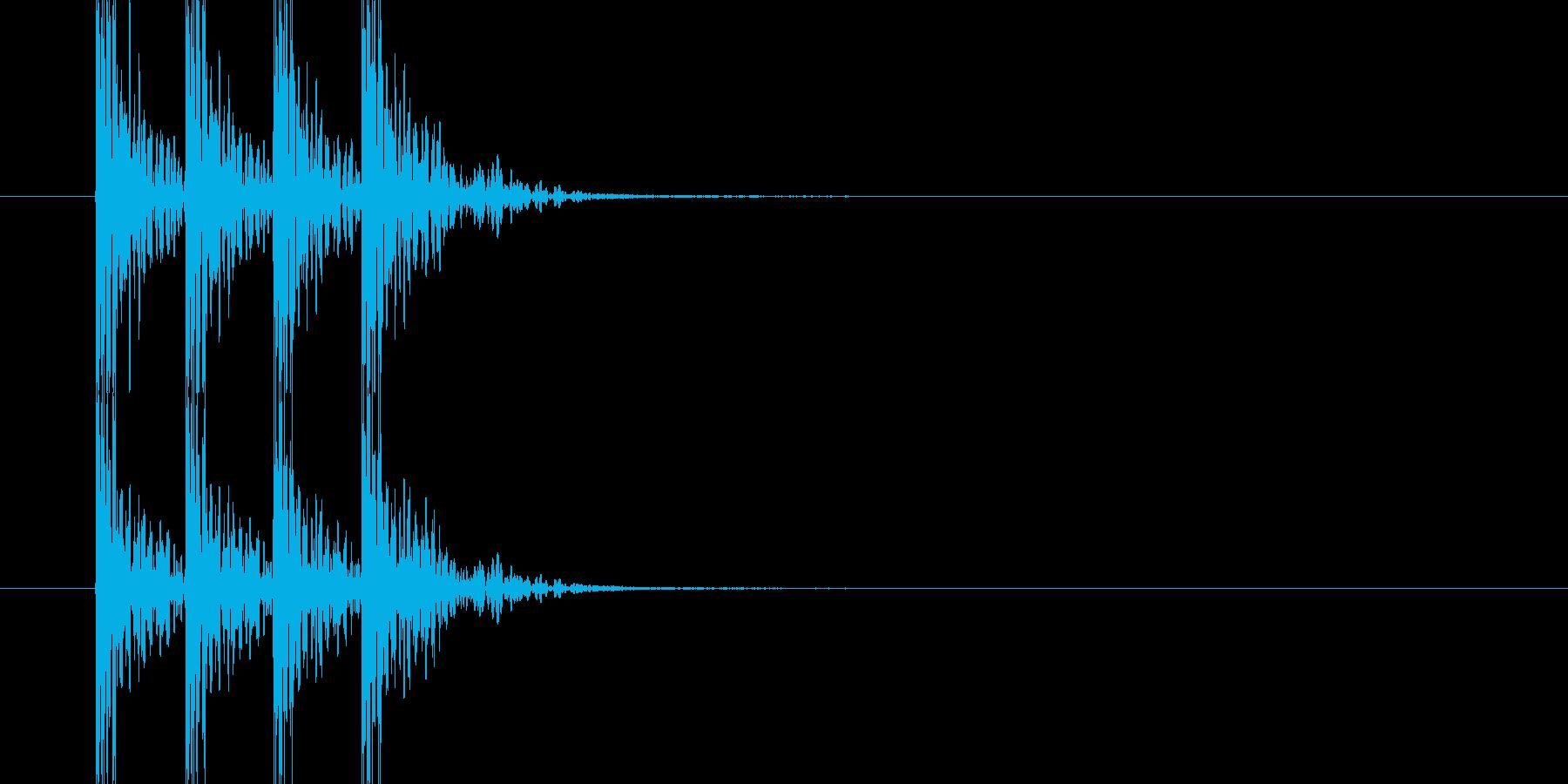 ドンドンドンドン(ドアを叩く音)の再生済みの波形