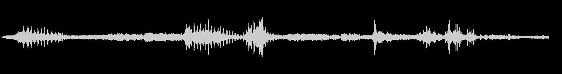 高音質バイノーラル録音バリカンで毛を剃るの未再生の波形