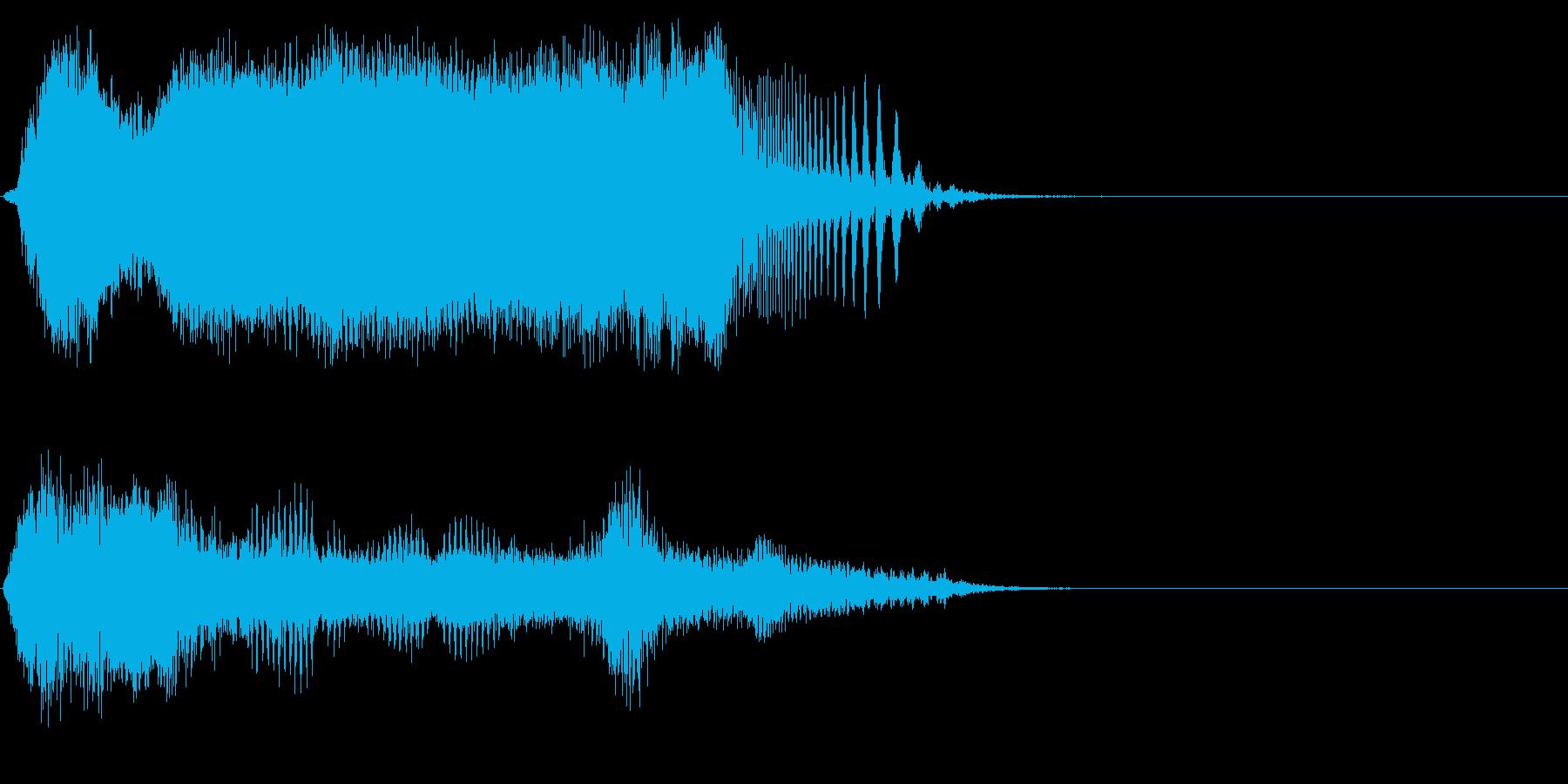 シャットダウン 3の再生済みの波形