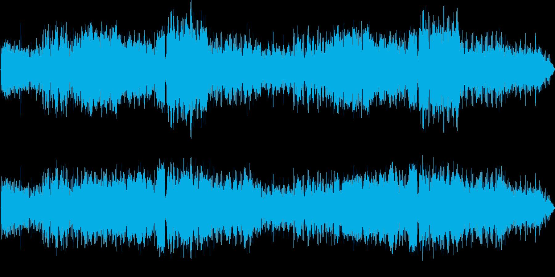 真夏の田舎町をイメージしたBGMの再生済みの波形