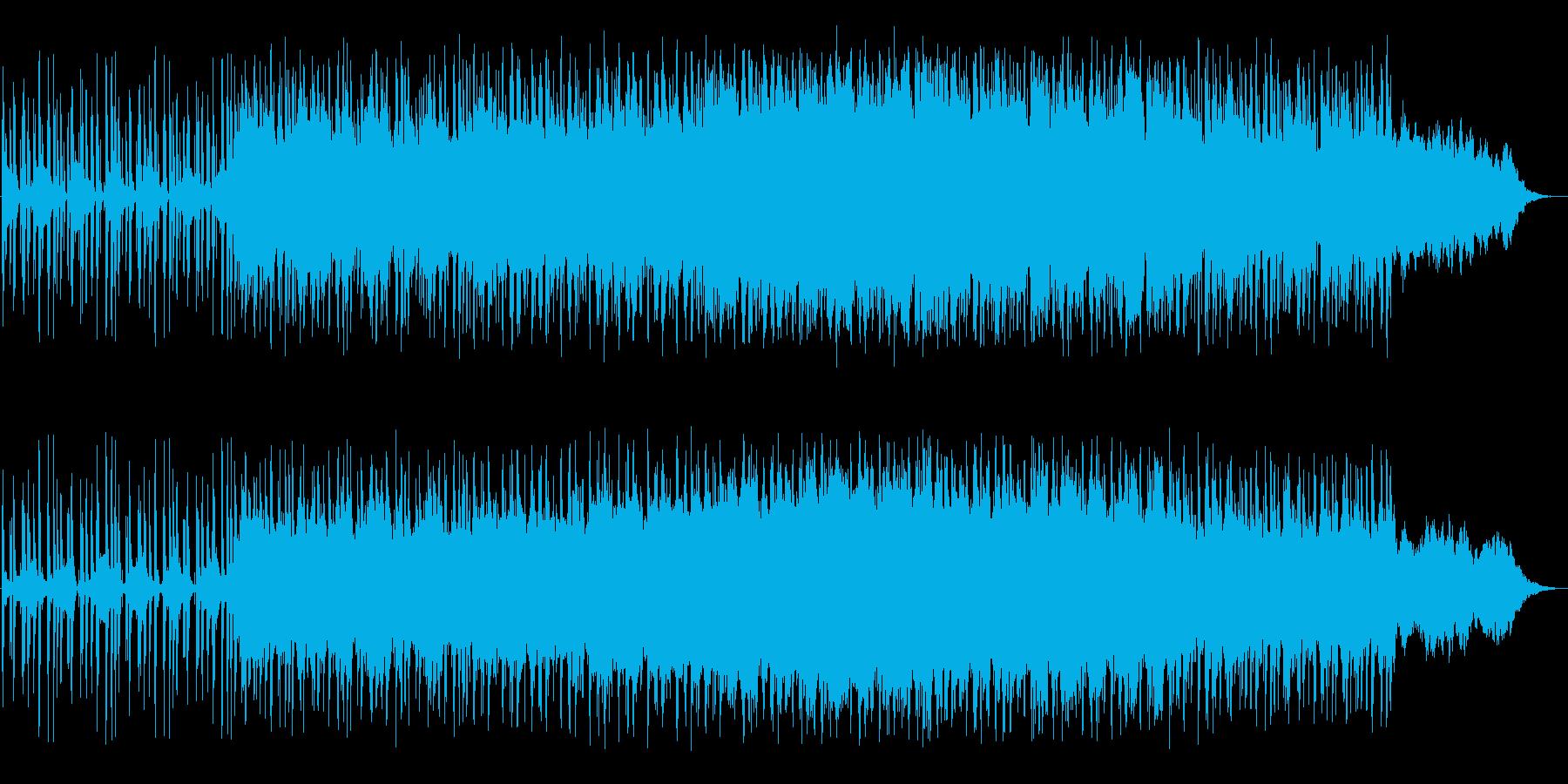 幻想的で活力あるヒーリングミュージックの再生済みの波形