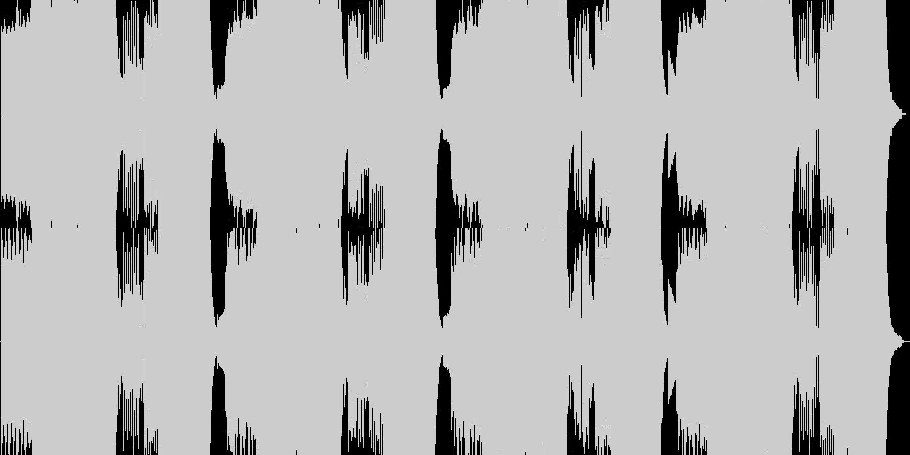 ピアノが乱れ狂う絶望の戦闘曲の未再生の波形