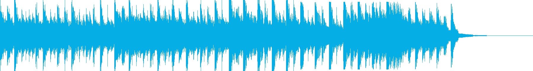 ビッグビートなシンキングタイム音の再生済みの波形