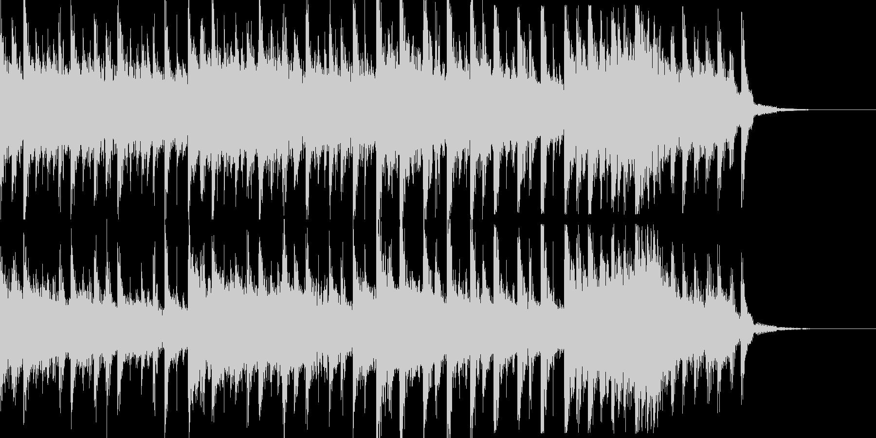 ビッグビートなシンキングタイム音の未再生の波形