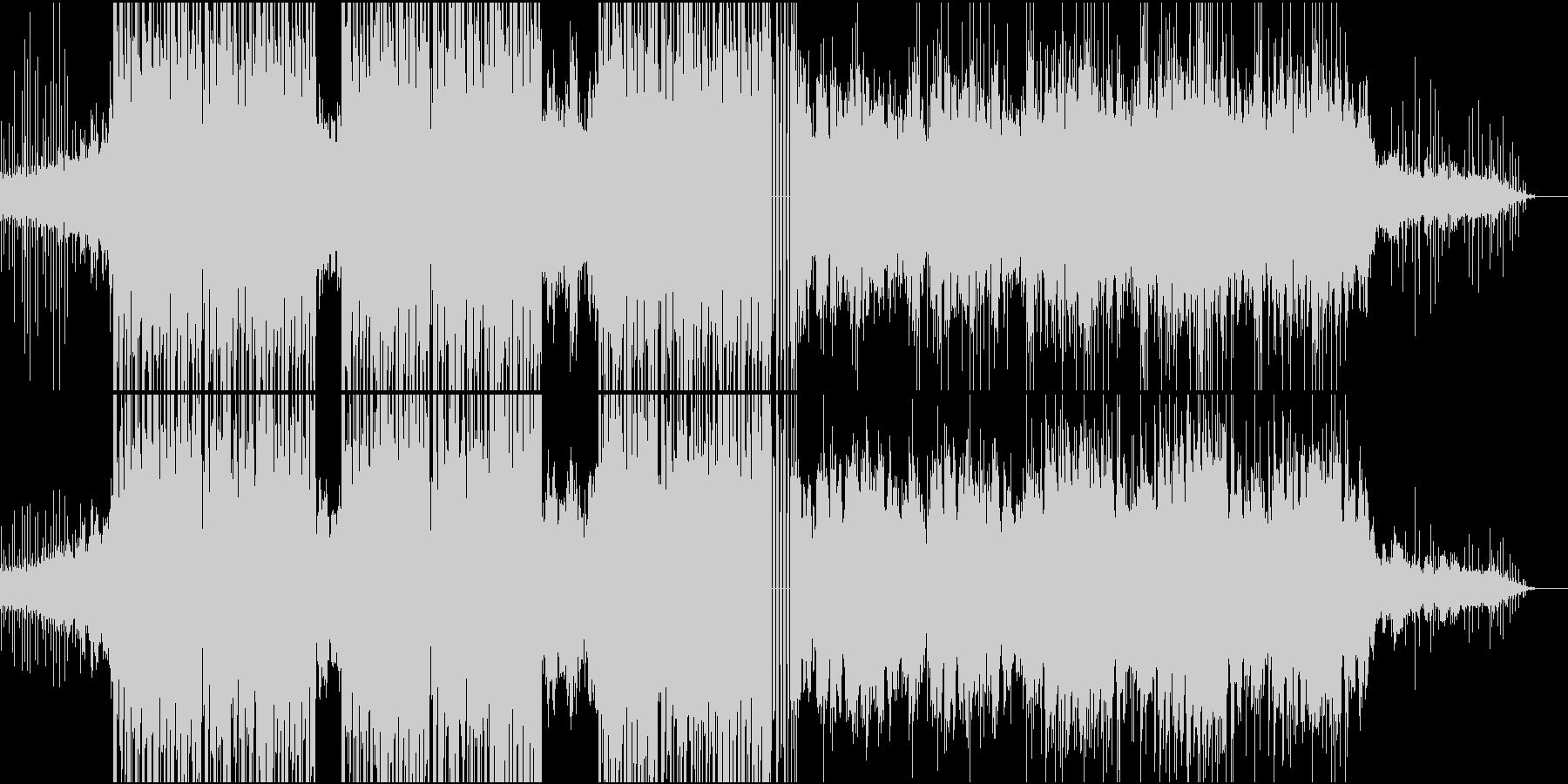 寂しげで綺麗なピアノのバラードの未再生の波形