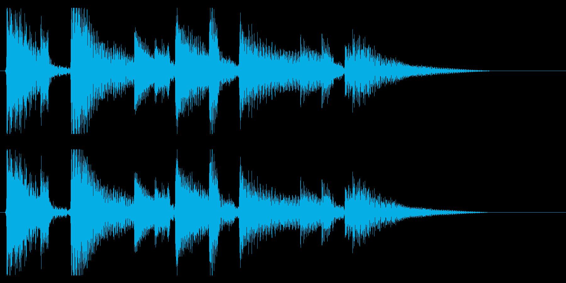 生演奏アコギのジングル12 お洒落の再生済みの波形
