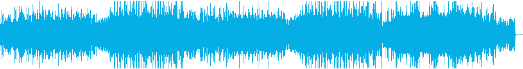 ギターリフとDnBビートのバトル曲の再生済みの波形