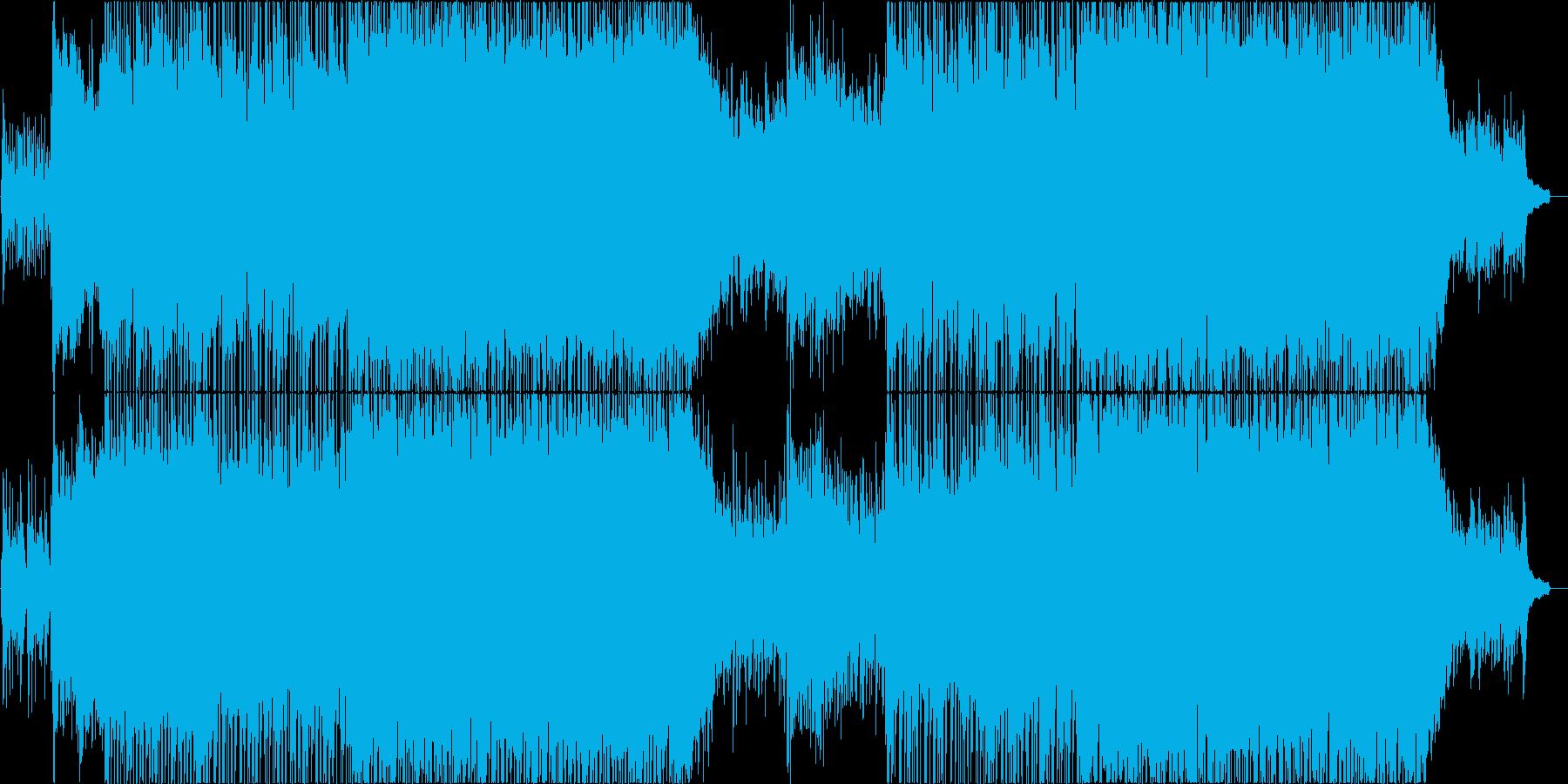 企業VP向け明るく爽やかなピアノバンド曲の再生済みの波形