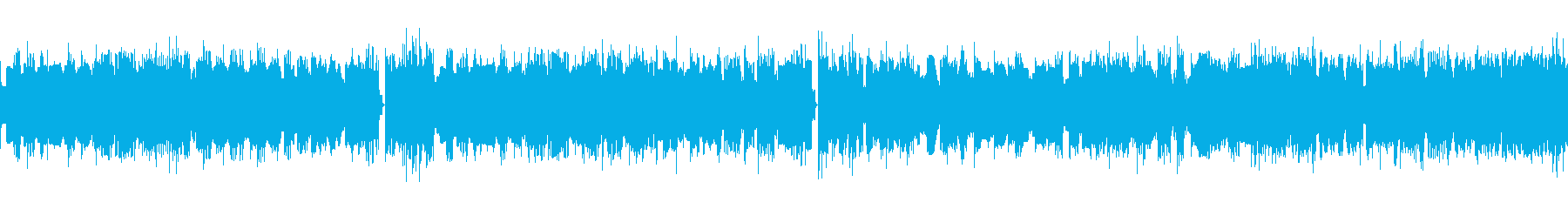 ファミコン、アクションゲーム風BGMの再生済みの波形