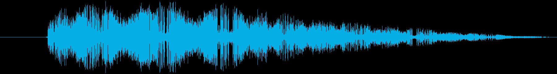 RPGの逃走音の再生済みの波形