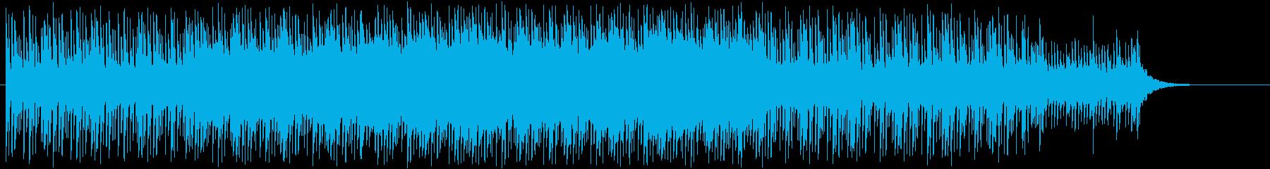 静かで落ち着いた雰囲気の電子系インスト曲の再生済みの波形