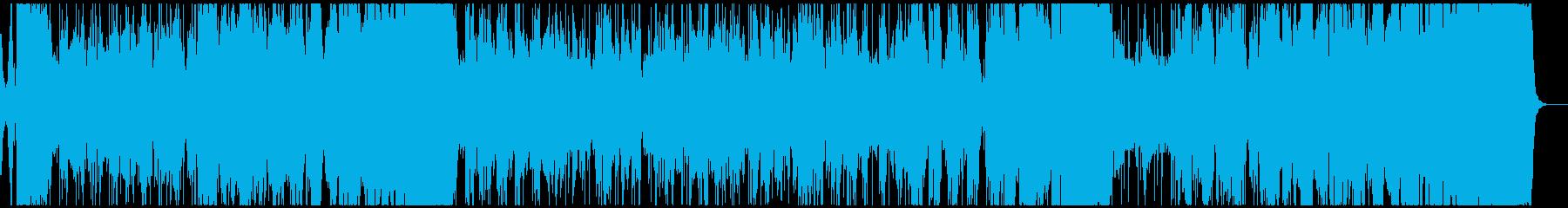 生演奏風打ち込みビックバンドジャズの再生済みの波形