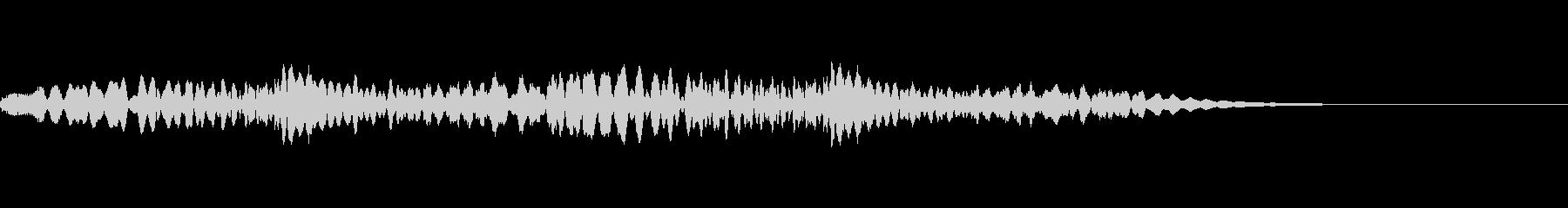 ルーレットを回すときの効果音の未再生の波形