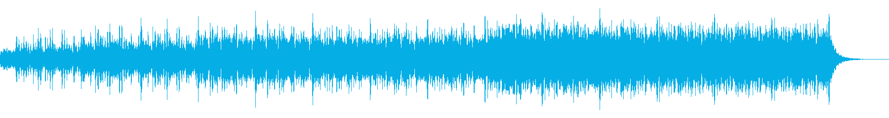 ミステリアス、ハラハラ感、EDMの再生済みの波形