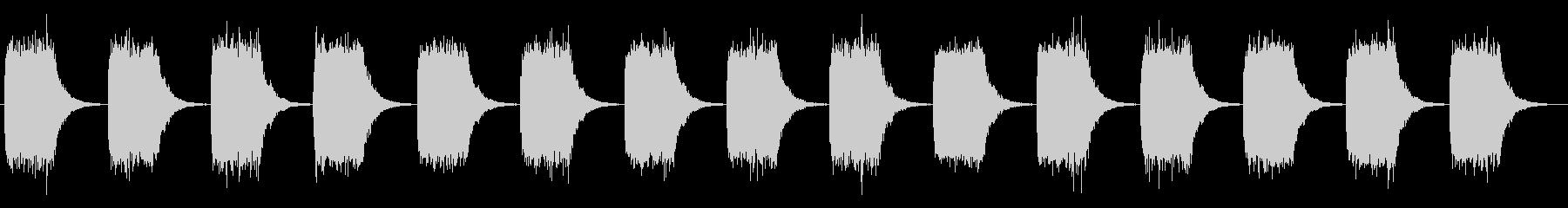 緊迫感のあるブザー音_警告音の未再生の波形