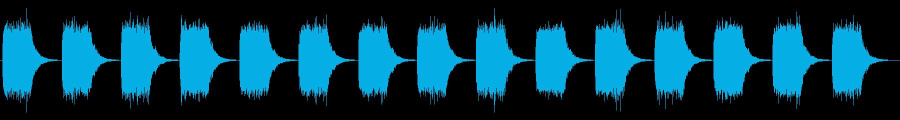 緊迫感のあるブザー音_警告音の再生済みの波形