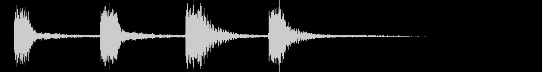 エレクトリックギター:フォービート...の未再生の波形