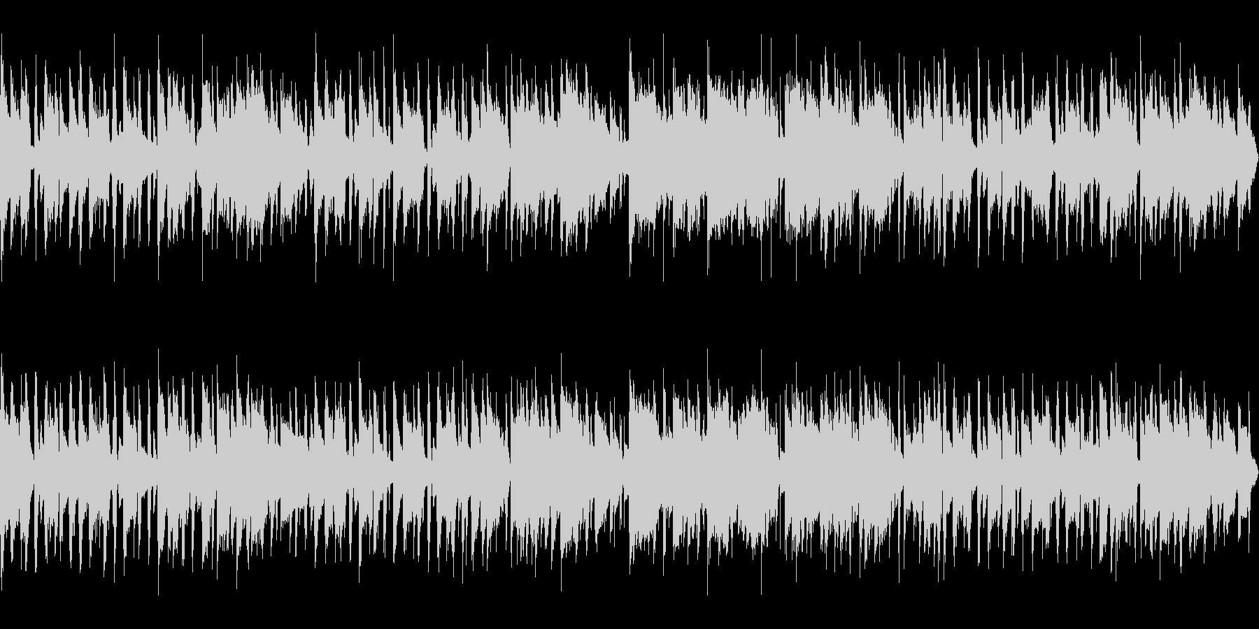 フルートの旋律でゆったりしたボサノバの未再生の波形