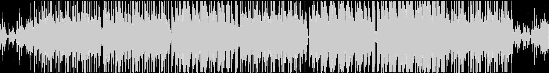 ダーク感のある重低音ヒップホップの未再生の波形