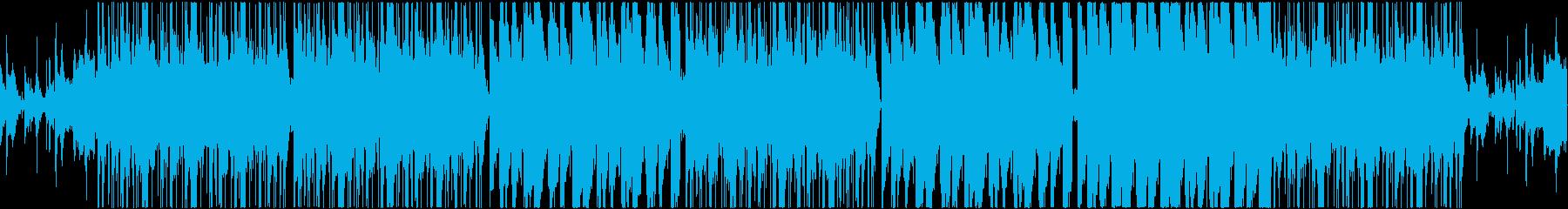 ダーク感のある重低音ヒップホップの再生済みの波形