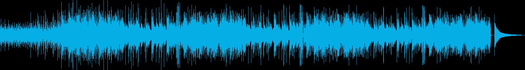 ゆったりしたアコギの日常系BGM ロングの再生済みの波形