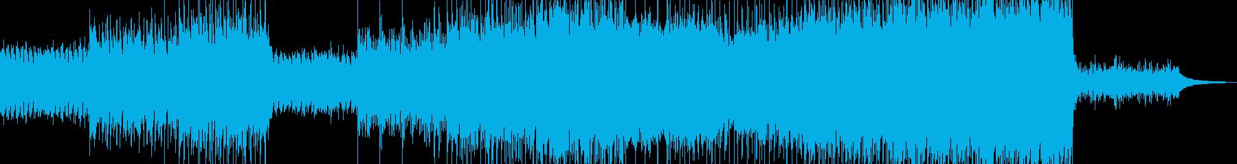未来志す風景・ドラム控えめの後半華やかの再生済みの波形