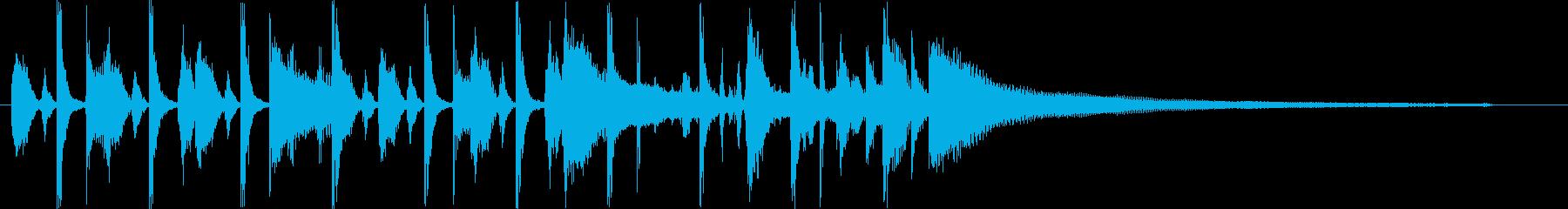 ほのぼのハッピーなアコースティックロゴ♪の再生済みの波形