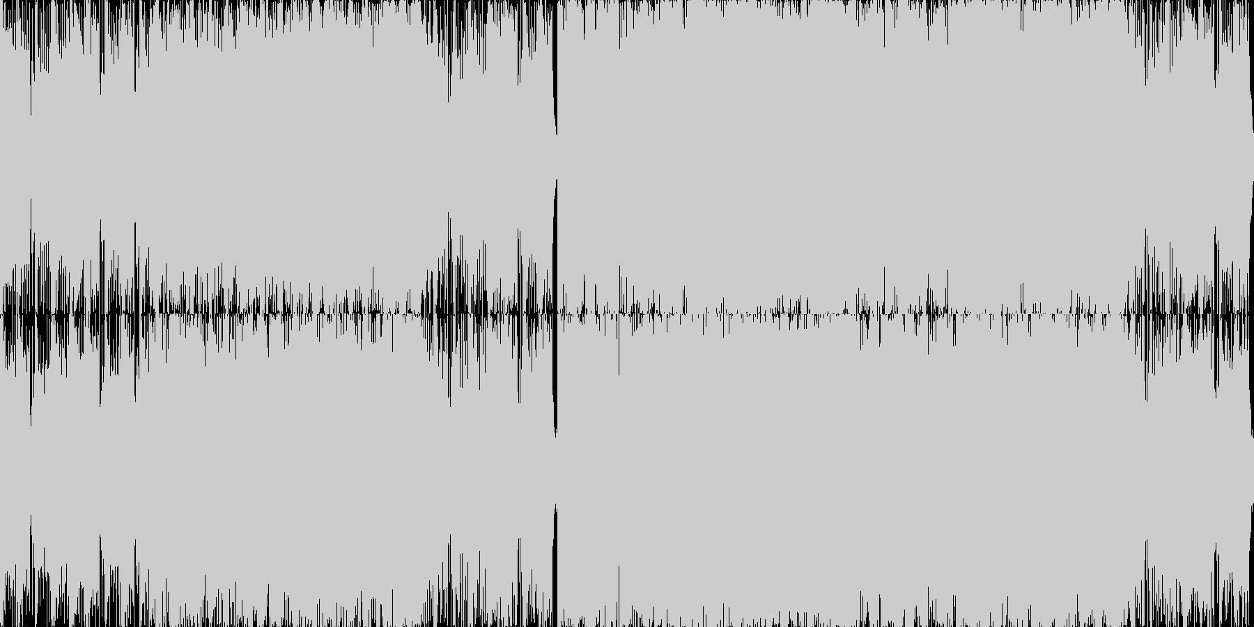 冷厳かつ雄大なドラムンベース■ループ版の未再生の波形