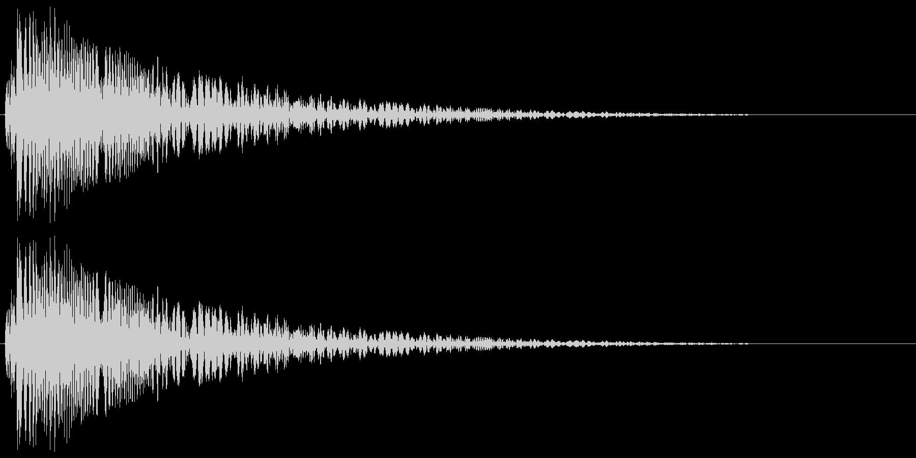 ボコッ_コミカルな打撃音の未再生の波形
