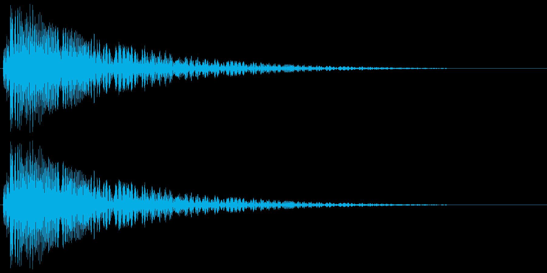 ボコッ_コミカルな打撃音の再生済みの波形