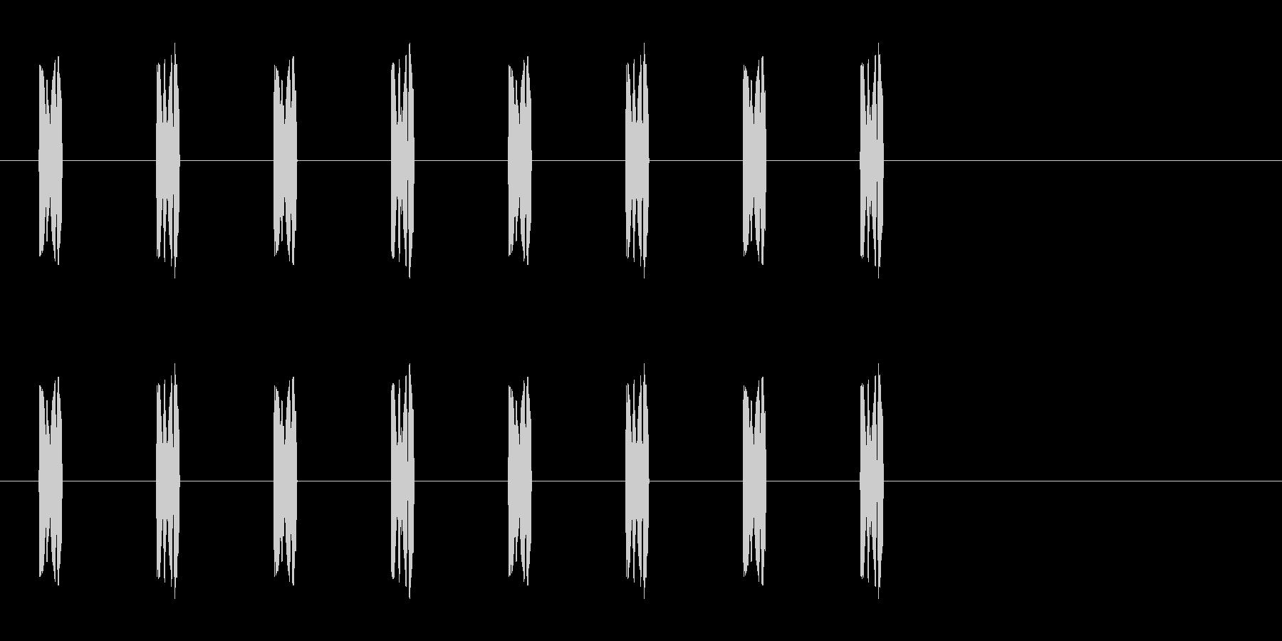 コミカルな足音 C-2-3の未再生の波形