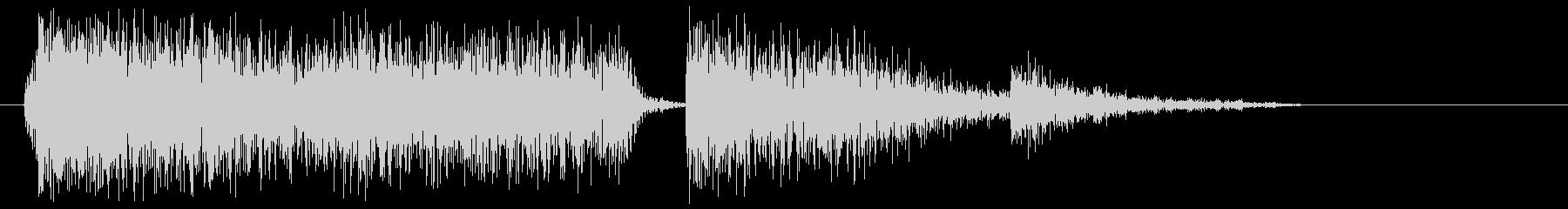 シャーン(高音のハイハット)の未再生の波形