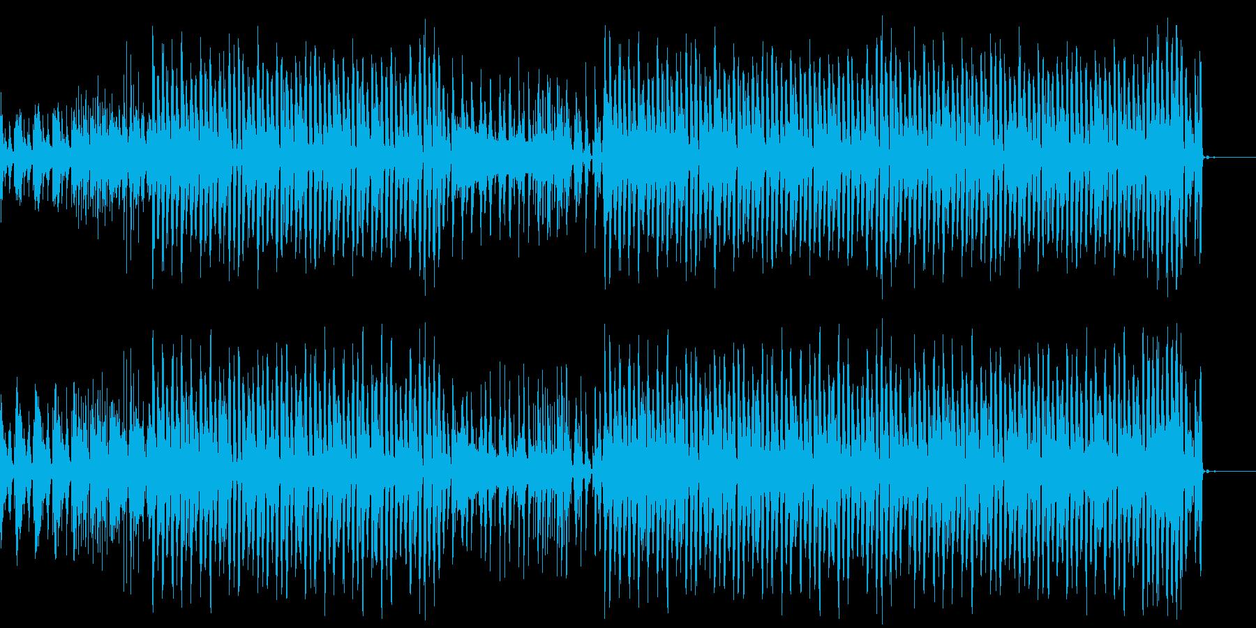 【1分版】レトロコミカルなダンストラックの再生済みの波形