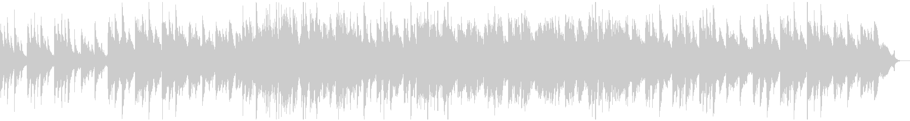 A warm and warm piano song's unreproduced waveform