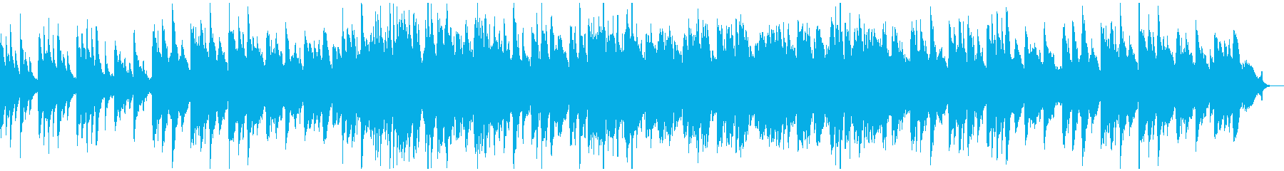 A warm and warm piano song's reproduced waveform