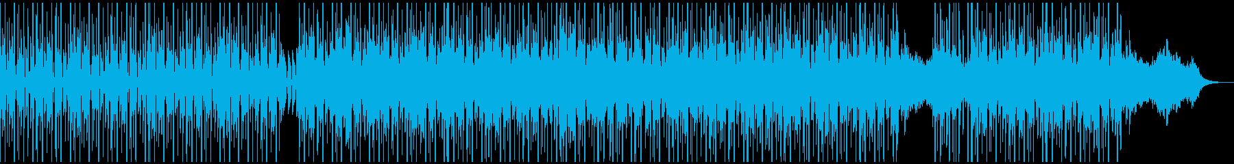 シンセとピアノを使ったクールなBGMの再生済みの波形