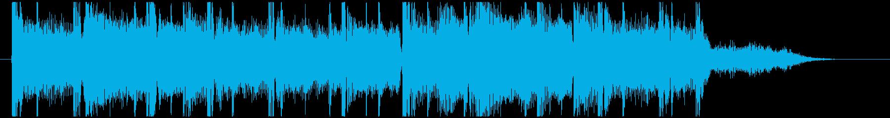 爽やかなドラムンベース系10秒ジングルの再生済みの波形