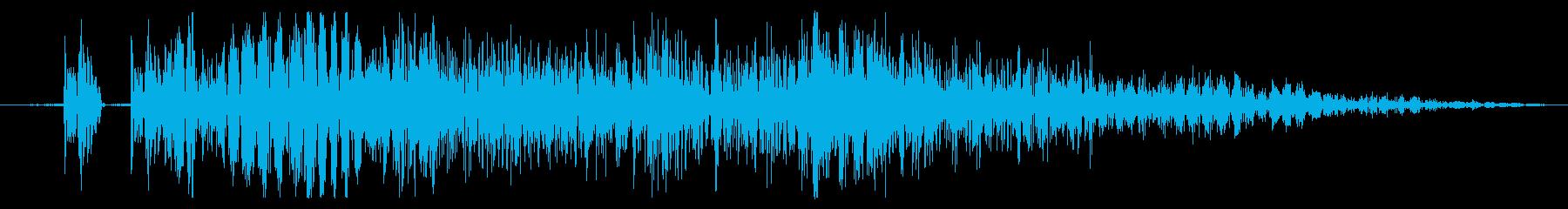 【打撃音02】パンチやキックに最適です!の再生済みの波形