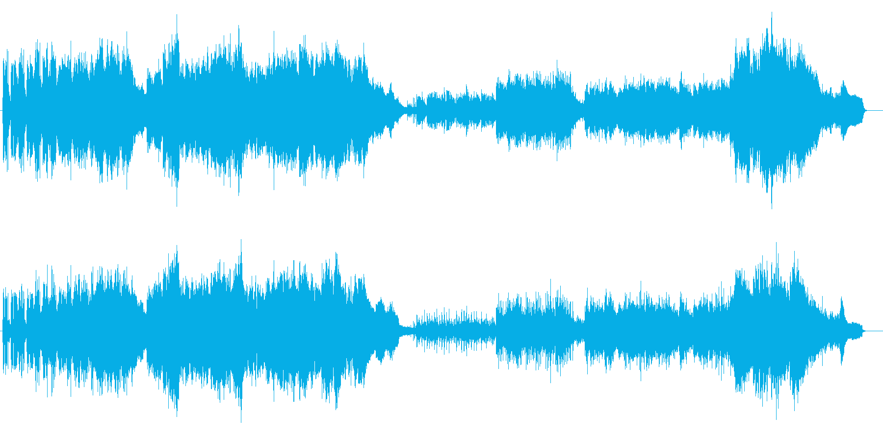 勇壮なオーケストラ・サウンドの再生済みの波形