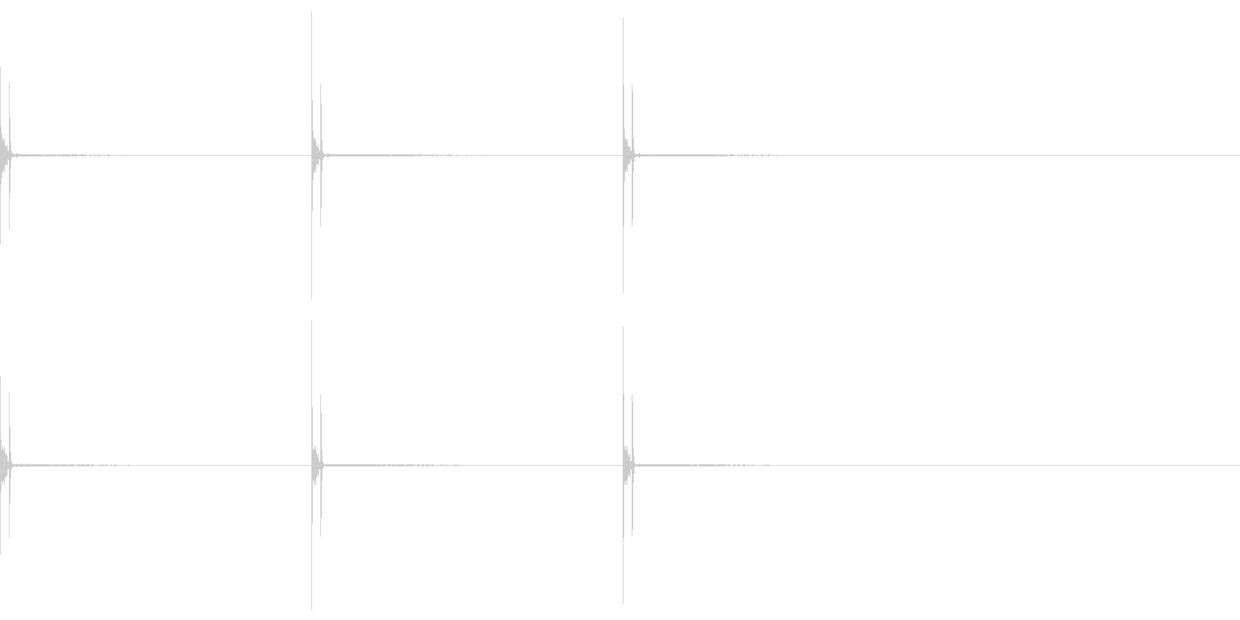 スナップ 催眠術 パッチン×3 の未再生の波形