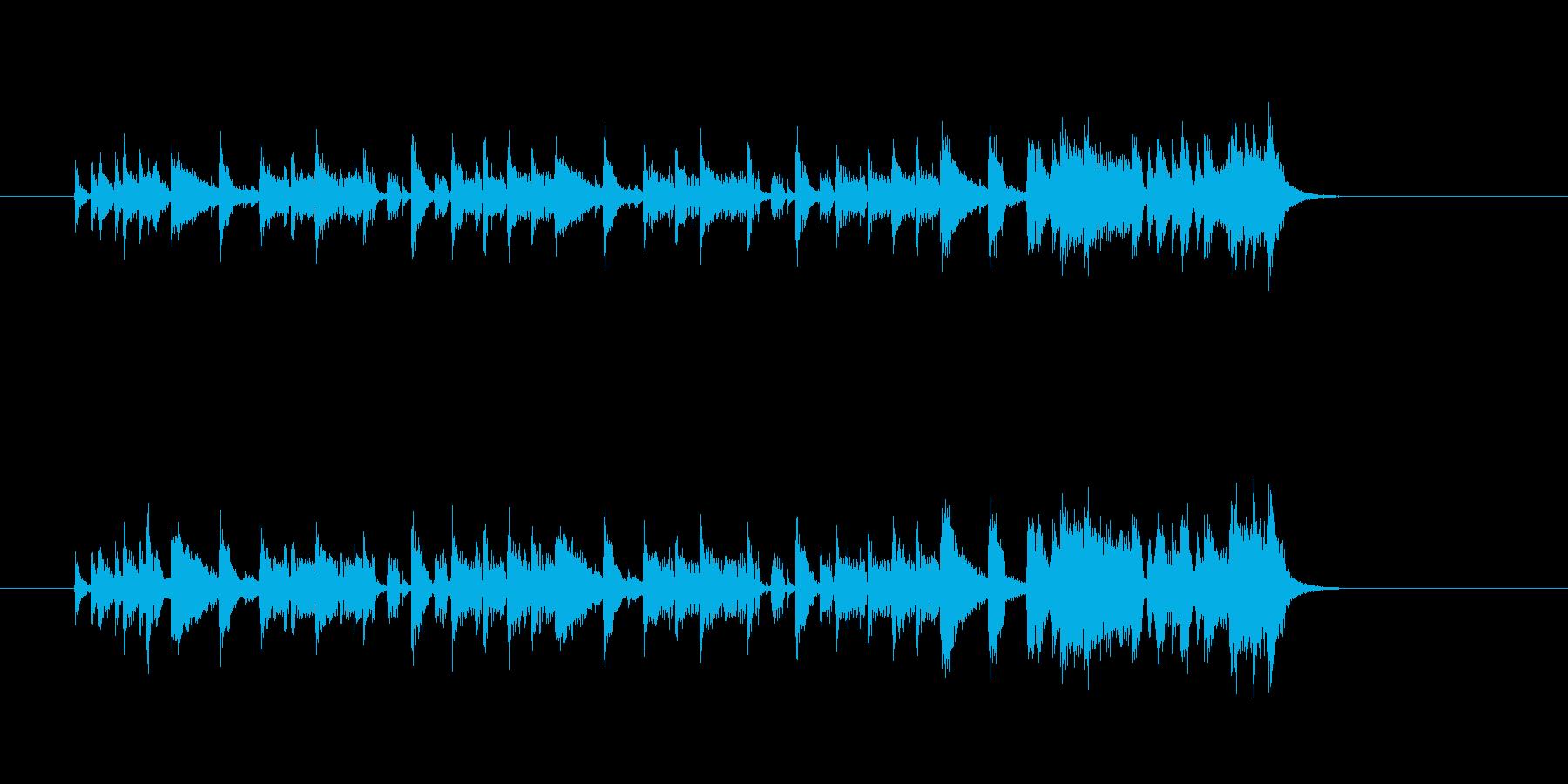 ジングル(ディスコ調)の再生済みの波形