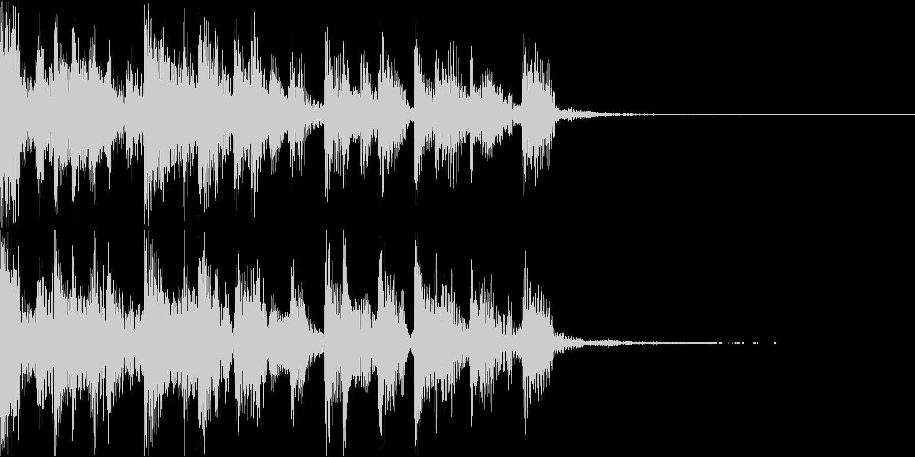 レトロなシンセサウンドとよりモダン...の未再生の波形