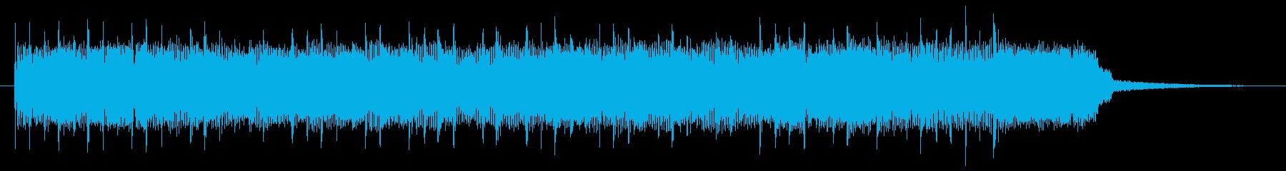 ブルージーでヘヴィなロックのジングルの再生済みの波形